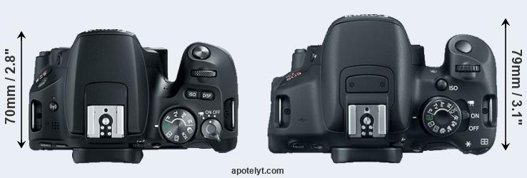 200D versus 700D top view