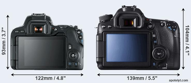 200D and 70D rear side