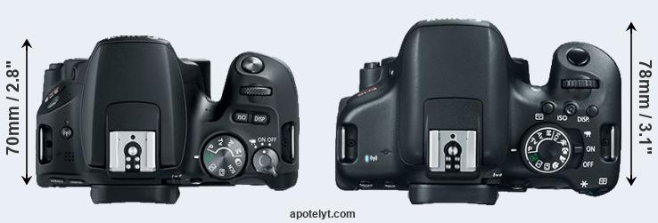 200D versus 750D top view