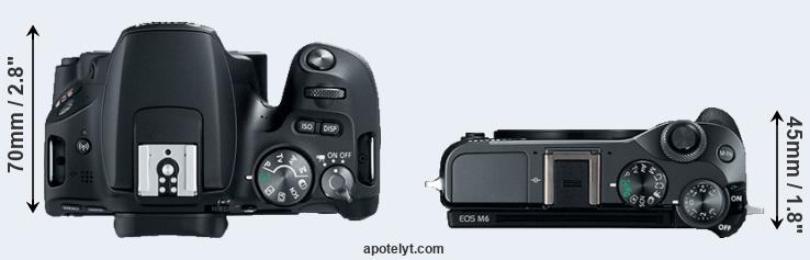 200D versus M6 top view