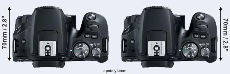 200D versus SL2 top view
