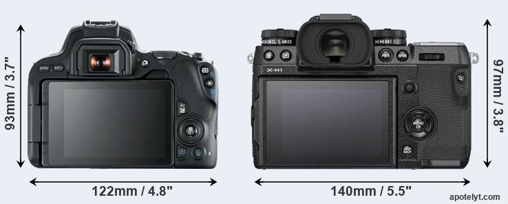 200D and X-H1 rear side
