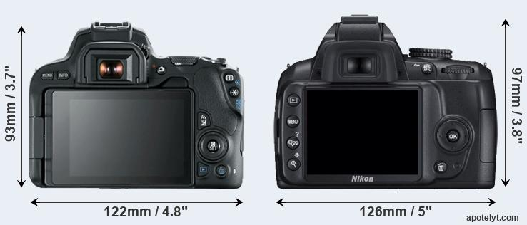 200D and D3000 rear side