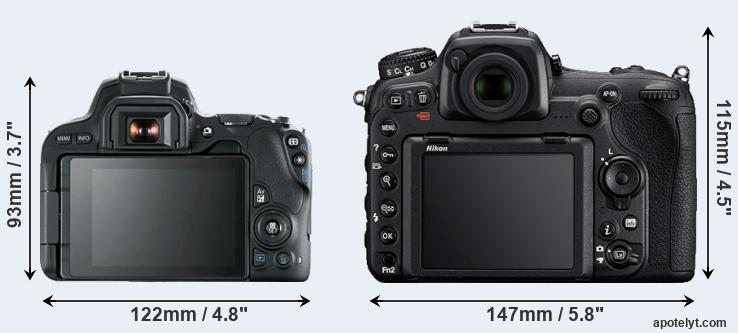 200D and D500 rear side