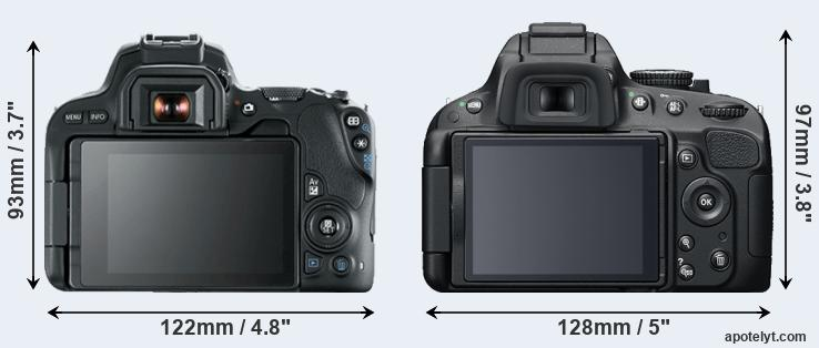 200D and D5200 rear side