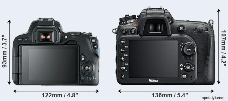 200D and D7200 rear side