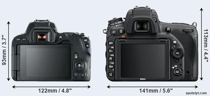 200D and D750 rear side