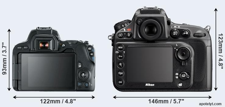 200D and D800 rear side