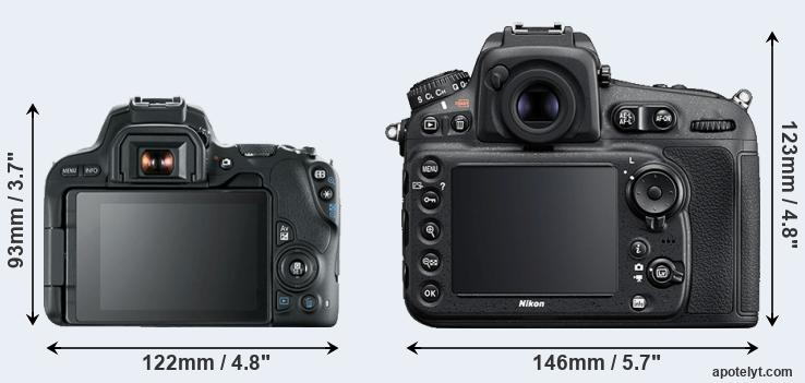 200D and D810 rear side