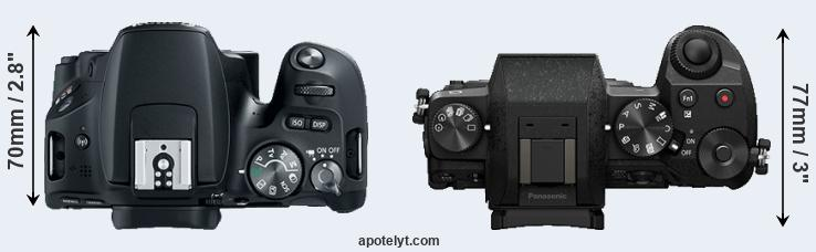 200D versus G7 top view