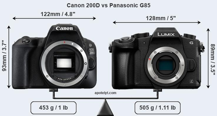 Compare Canon 200D and Panasonic G85