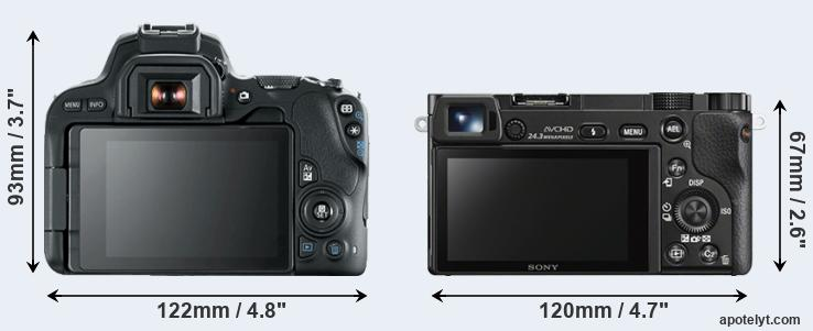 200D and A6000 rear side