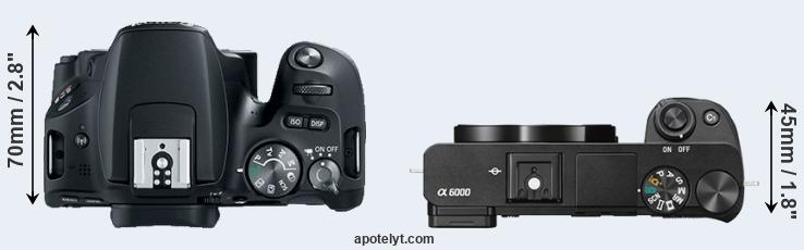 200D versus A6000 top view