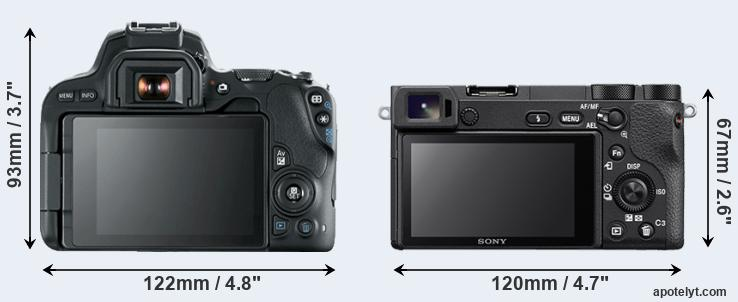 200D and A6500 rear side