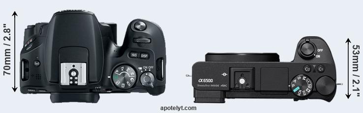 200D versus A6500 top view
