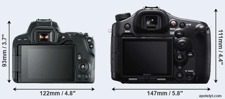200D and A99 rear side