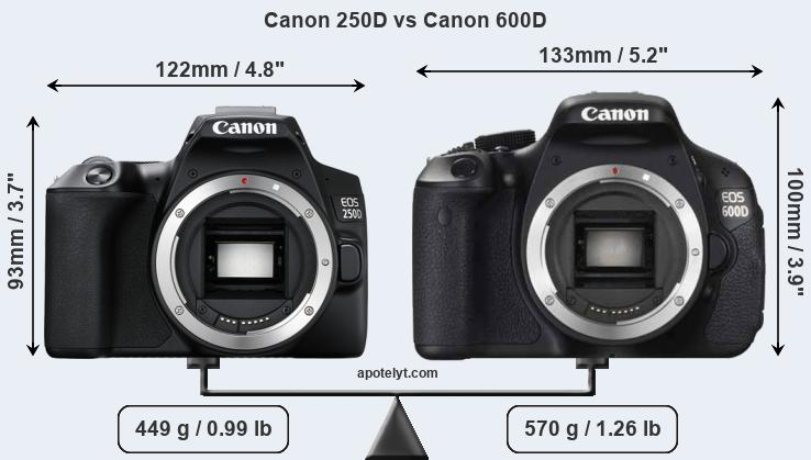 Canon 250D vs Canon 600D Comparison Review