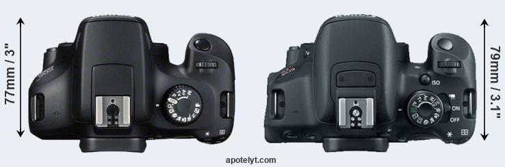 4000D versus 700D top view