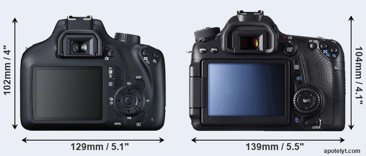 4000D and 70D rear side