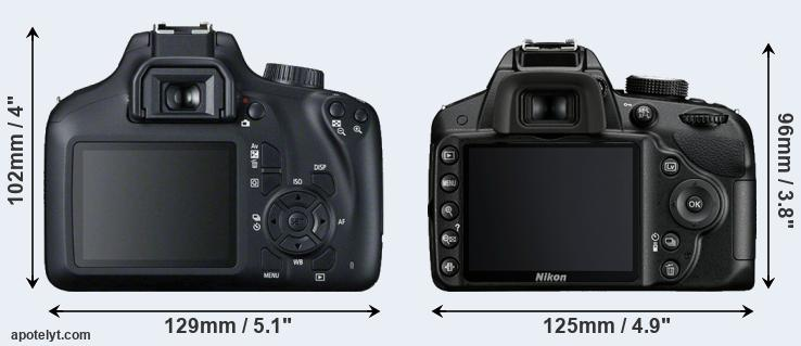 4000D and D3200 rear side