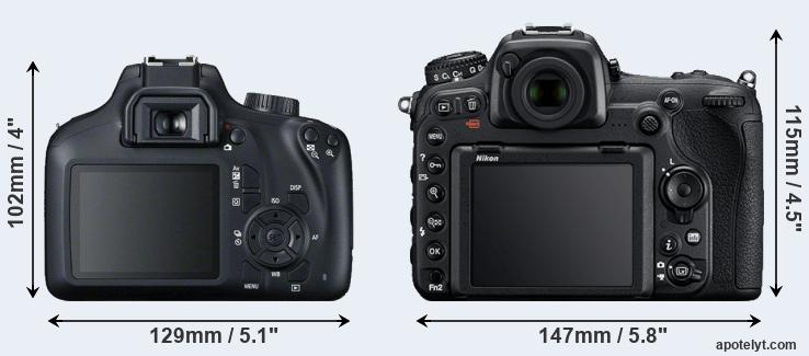 4000D and D500 rear side