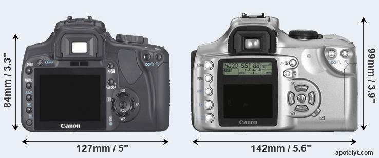 400D and 300D rear side