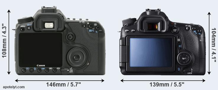 40D and 70D rear side