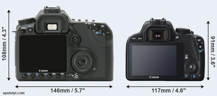 40D and SL1 rear side