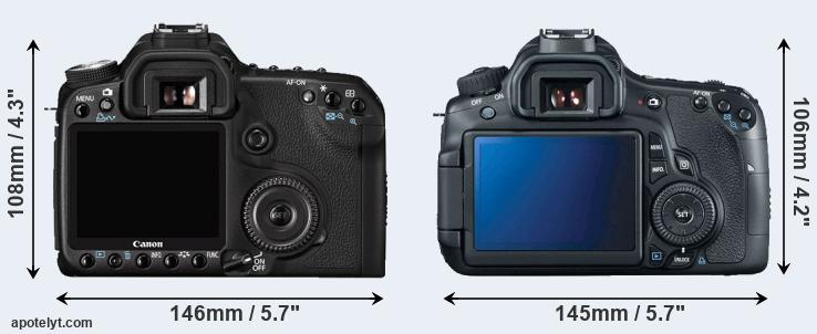 50D and 60D rear side