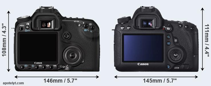 50D and 6D rear side