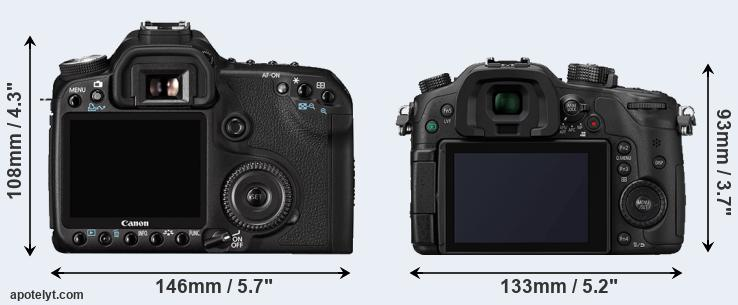 50D and GH4 rear side