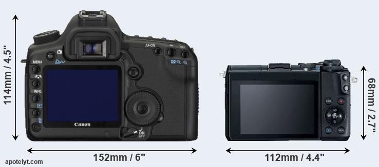 5D Mark II and M6 rear side