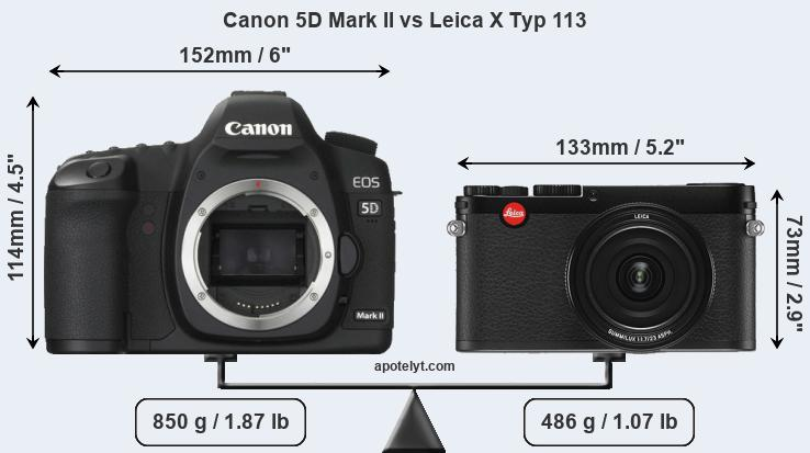 Compare Canon 5D Mark II and Leica X Typ 113