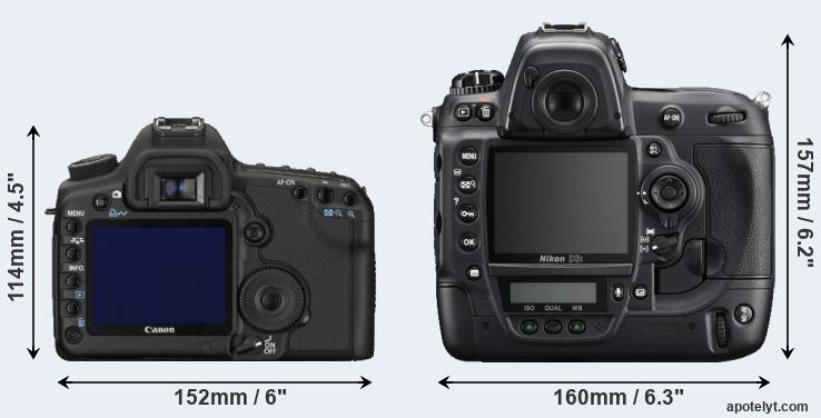 5D Mark II and D3S rear side