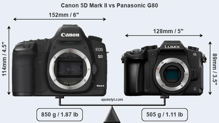 Compare Canon 5D Mark II and Panasonic G80