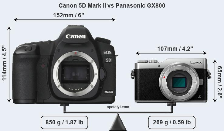 Compare Canon 5D Mark II and Panasonic GX800