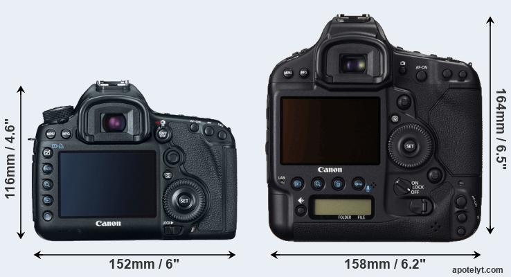 5D Mark III and 1DC rear side