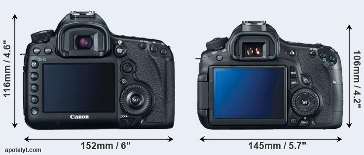 5D Mark III and 60D rear side