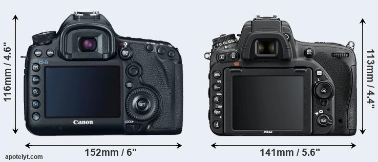 5D Mark III and D750 rear side