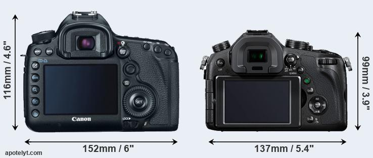 5D Mark III and FZ1000 rear side