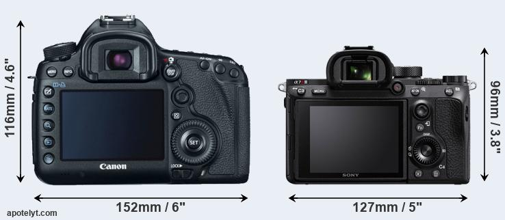 5D Mark III and A7R III rear side