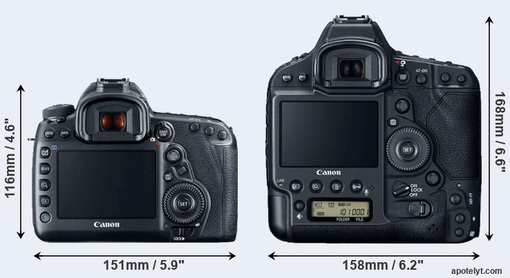 5D Mark IV and 1DX Mark II rear side