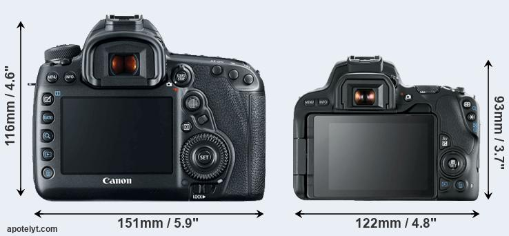 5D Mark IV and 200D rear side