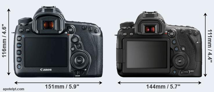 5D Mark IV and 6D Mark II rear side
