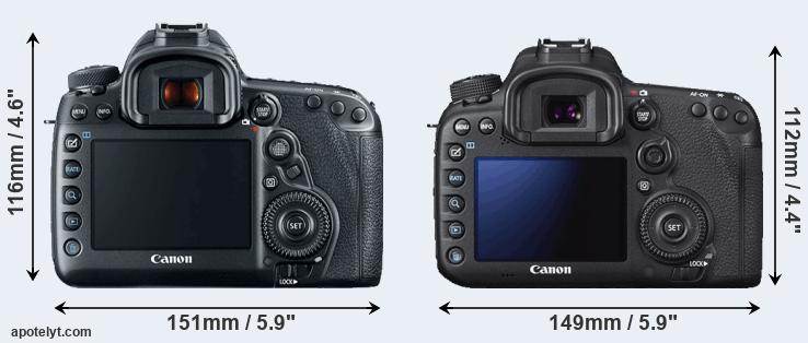 5D Mark IV and 7D Mark II rear side