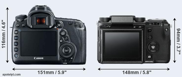 5D Mark IV and GFX rear side