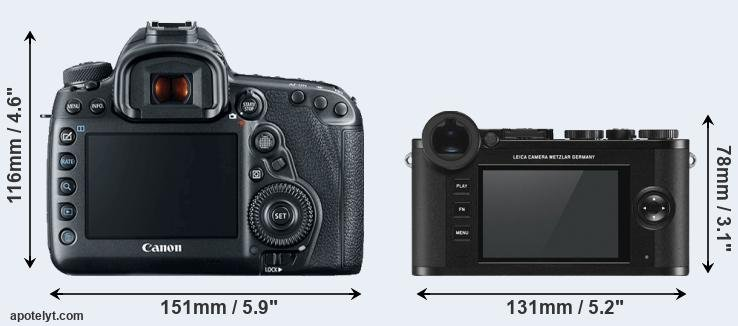 5D Mark IV and CL rear side