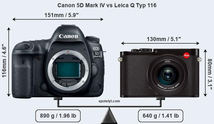 Canon 5D Mark IV vs Leica Q Typ 116 front