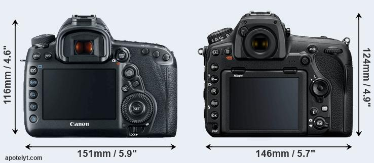 5D Mark IV and D850 rear side