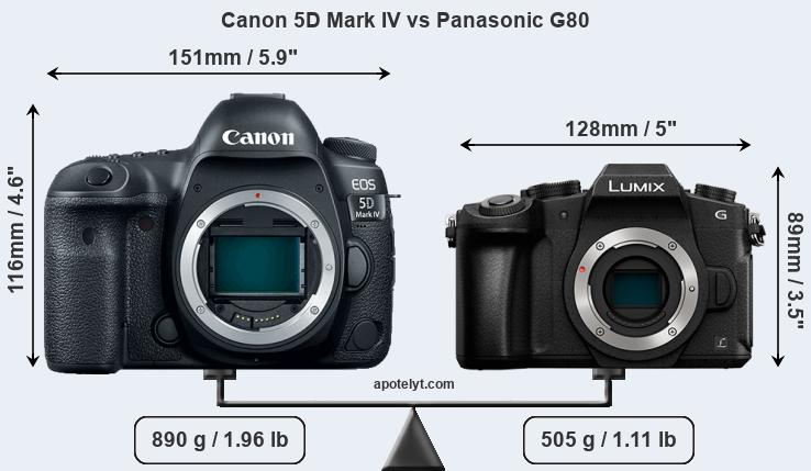 Compare Canon 5D Mark IV and Panasonic G80